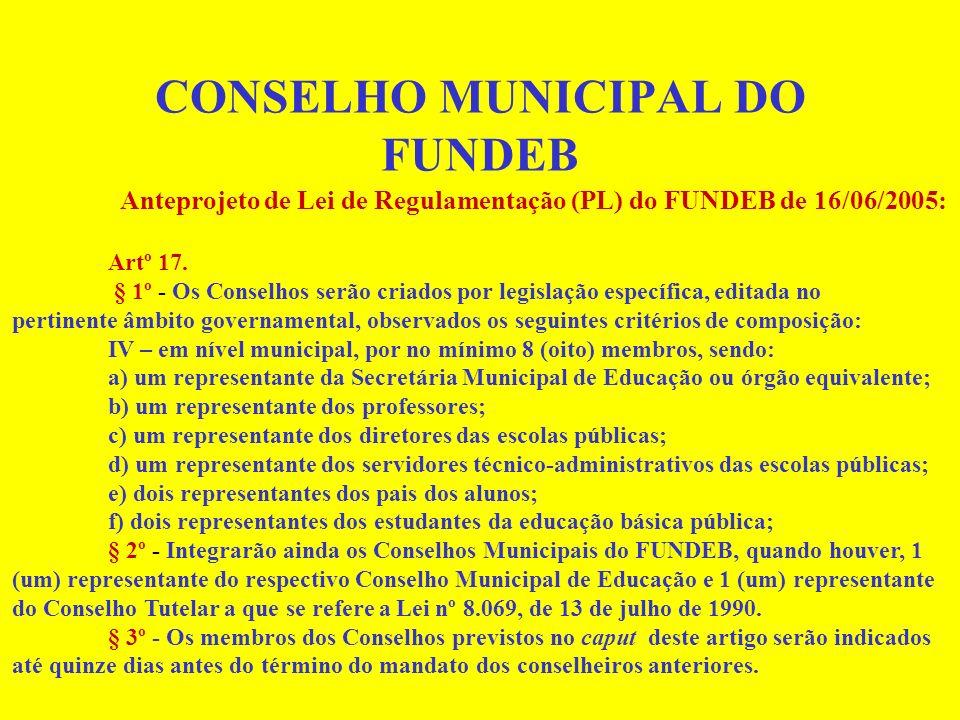 FUNDEB - CARACTERÍSTICAS Haverá complementação de recursos por parte da União, sempre que, no âmbito de cada Estado e do Distrito Federal, os recursos