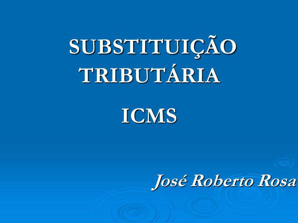 SUBSTITUTOS: Fabricante Fabricante Importador (paga o ICMS da importação, no desembaraço, se credita e, ao vender, paga o ICMS da sua operação e retém o ICMS das operações subseqüentes) Importador (paga o ICMS da importação, no desembaraço, se credita e, ao vender, paga o ICMS da sua operação e retém o ICMS das operações subseqüentes) Arrematante de mercadoria importada apreendida ou abandonada Arrematante de mercadoria importada apreendida ou abandonadaSUBSTITUÍDOS: Comerciante revendedor (atacadista – substituído intermediário e varejista) Comerciante revendedor (atacadista – substituído intermediário e varejista)