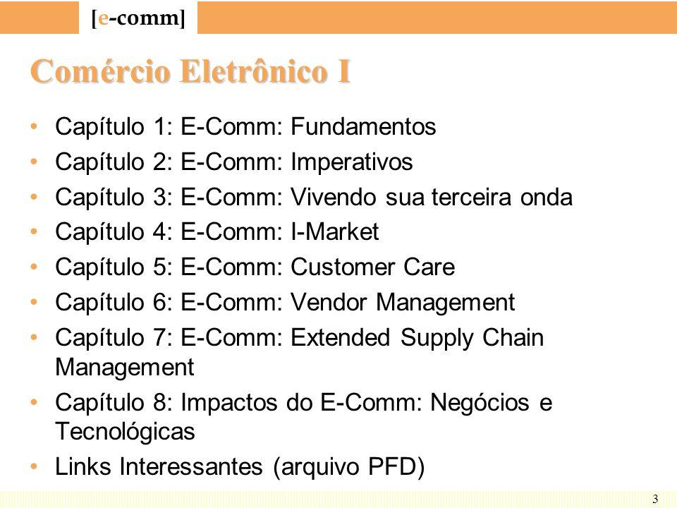 [ e-comm ] 54 I-Market: Framework Marketing Catálogos Pedidos Efetivação Pagamento Client/Server ERP Legado Catálogo de terceiro Terceiro Finanças & Logística ParceirosEmpresaClientes