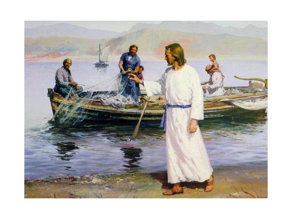 Jesus convocou os apóstolos: Simão Pedro e seu irmão André para serem pescadores de homens..