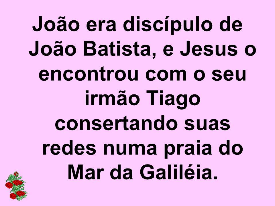 João era discípulo de João Batista, e Jesus o encontrou com o seu irmão Tiago consertando suas redes numa praia do Mar da Galiléia.