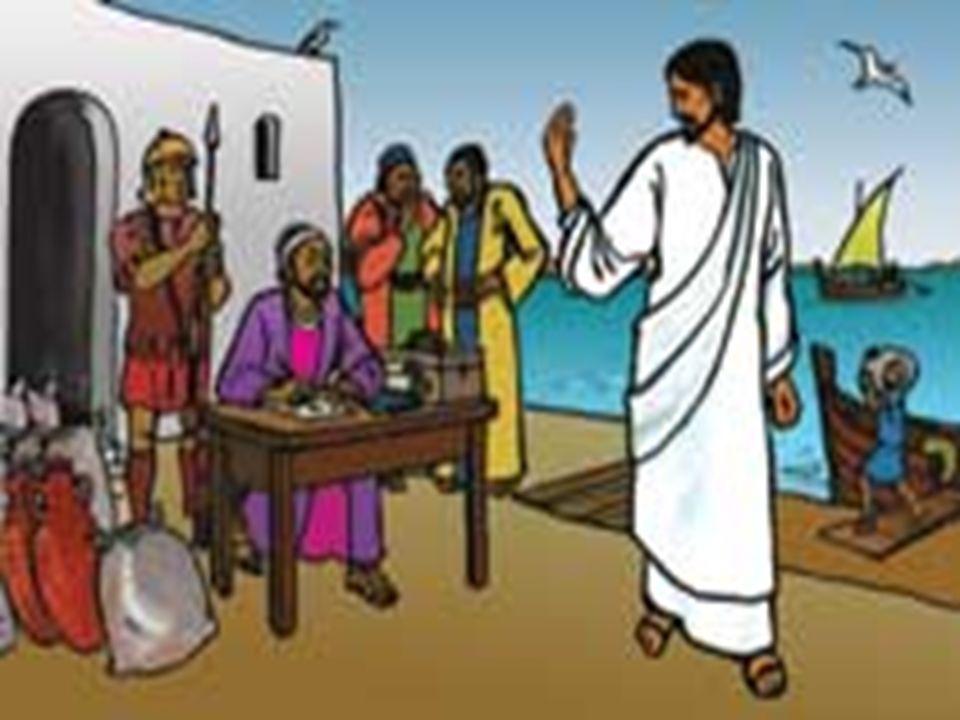 Jesus jantou com ele na sua casa, sentando-se à mesa com seus amigos cobradores de impostos.