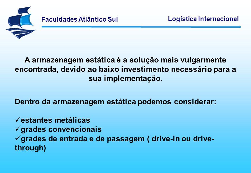 Faculdades Atlântico Sul Logística Internacional Classificar materiais não é mais do que agrupar produtos de acordo com determinados critérios.