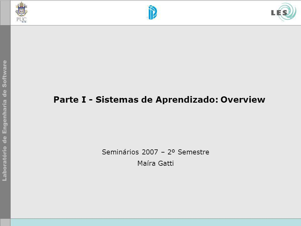 Parte I - Sistemas de Aprendizado: Overview Seminários 2007 – 2º Semestre Maíra Gatti