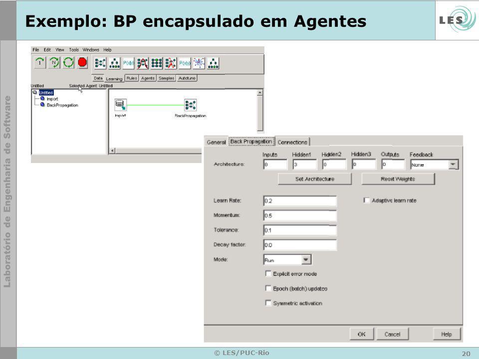 20 © LES/PUC-Rio Exemplo: BP encapsulado em Agentes