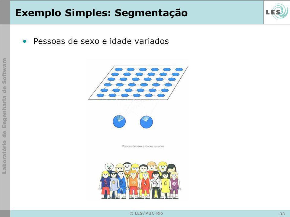 33 © LES/PUC-Rio Exemplo Simples: Segmentação Pessoas de sexo e idade variados