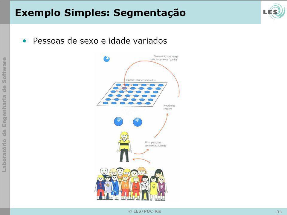 34 © LES/PUC-Rio Exemplo Simples: Segmentação Pessoas de sexo e idade variados
