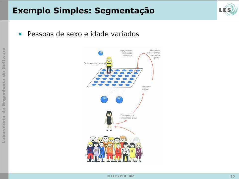 35 © LES/PUC-Rio Exemplo Simples: Segmentação Pessoas de sexo e idade variados