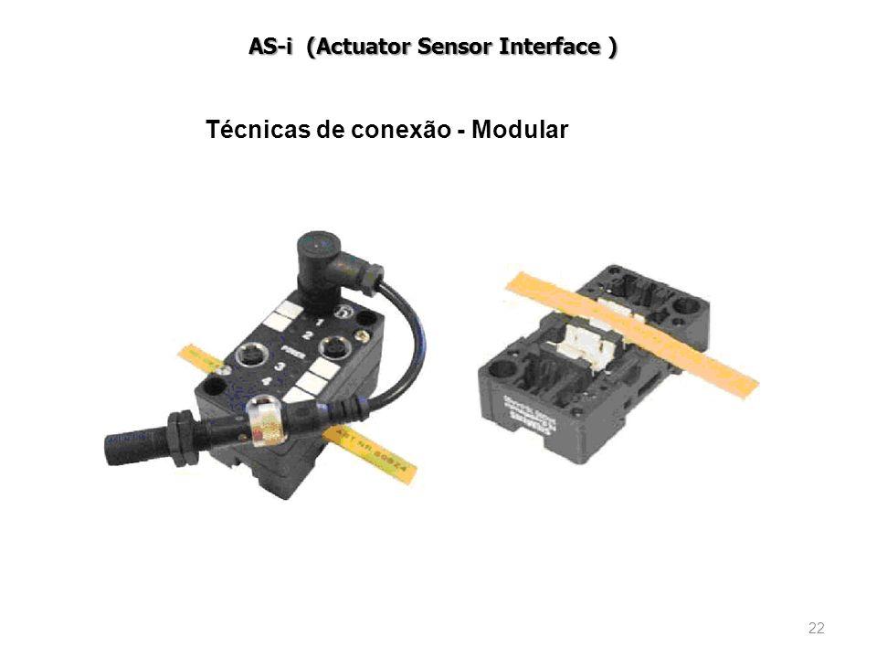 22 Técnicas de conexão - Modular AS-i (Actuator Sensor Interface )