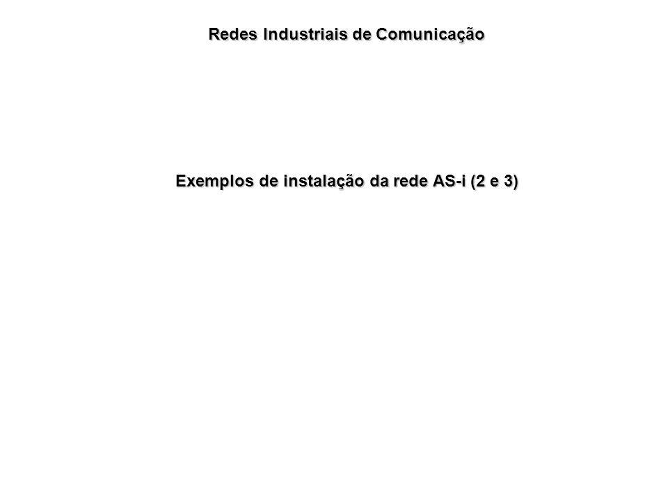 Redes Industriais de Comunicação Exemplos de instalação da rede AS-i (2 e 3)