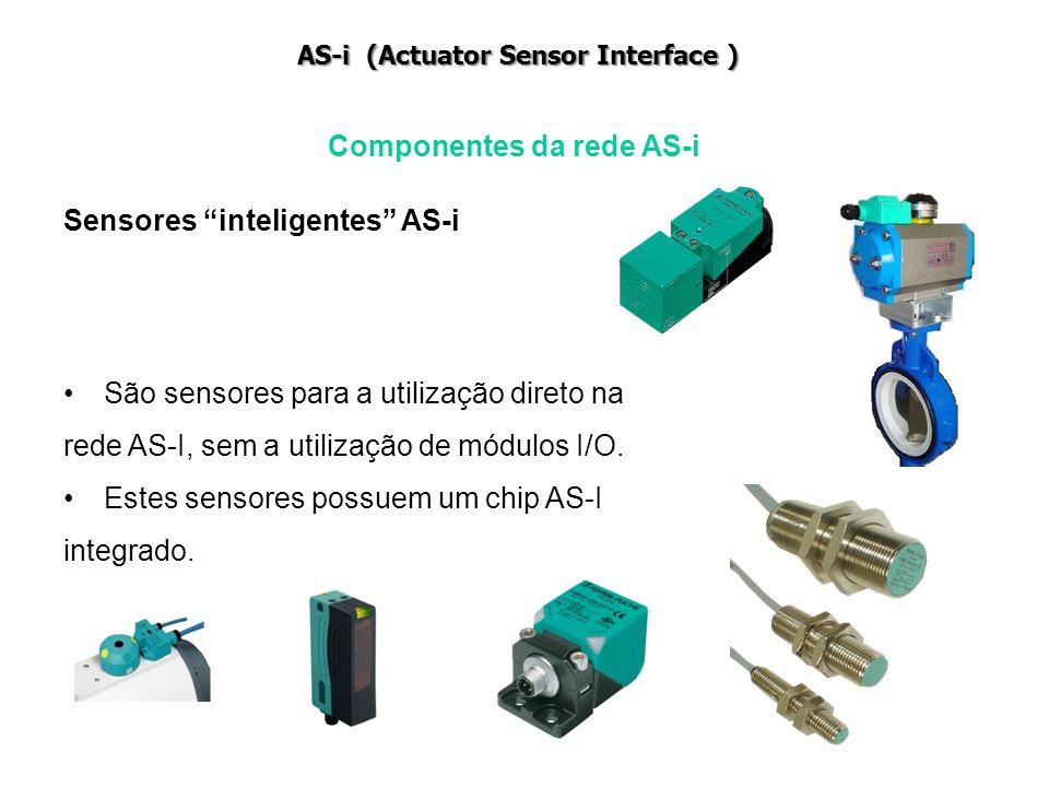 São sensores para a utilização direto na rede AS-I, sem a utilização de módulos I/O. Estes sensores possuem um chip AS-I integrado. Componentes da red