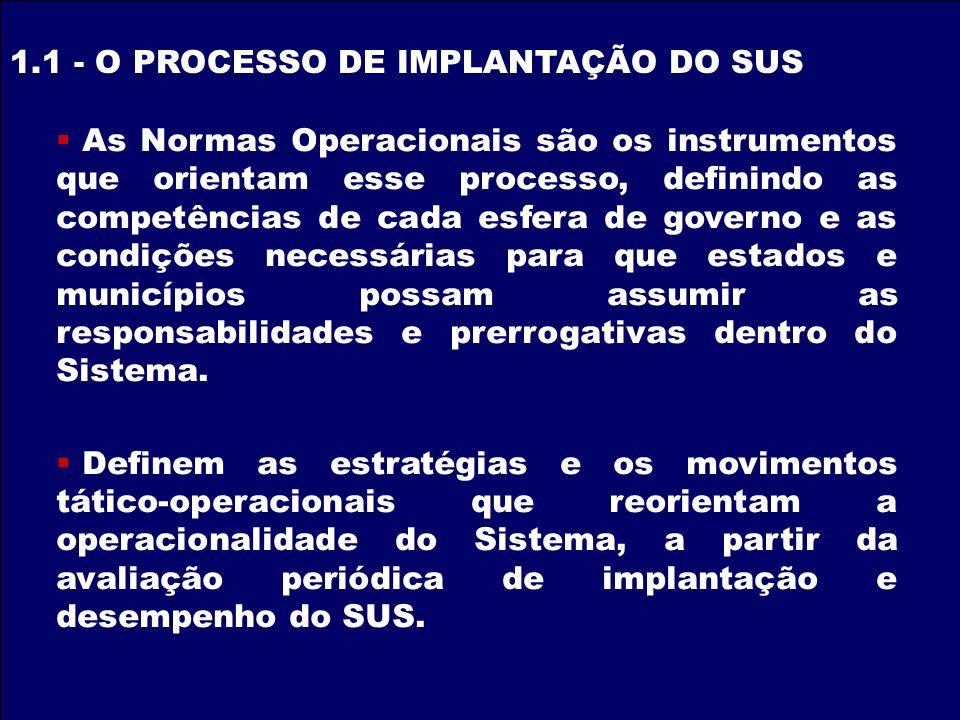 As Normas Operacionais são os instrumentos que orientam esse processo, definindo as competências de cada esfera de governo e as condições necessárias