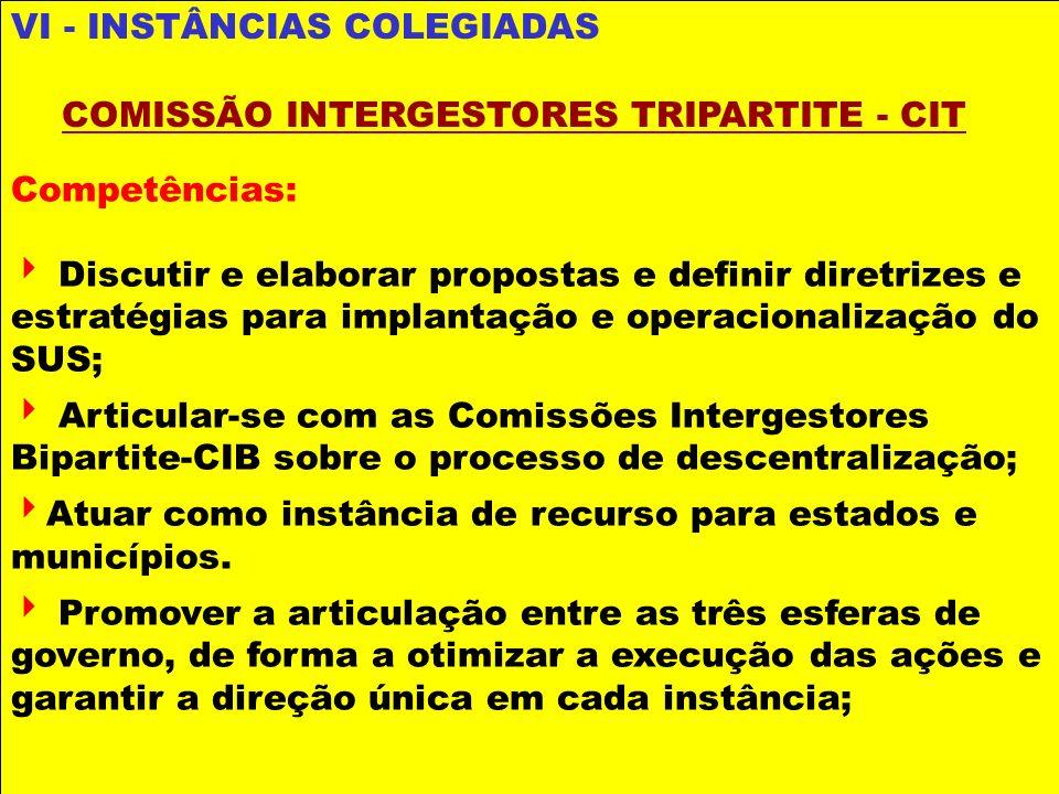 Competências: Discutir e elaborar propostas e definir diretrizes e estratégias para implantação e operacionalização do SUS; Articular-se com as Comiss