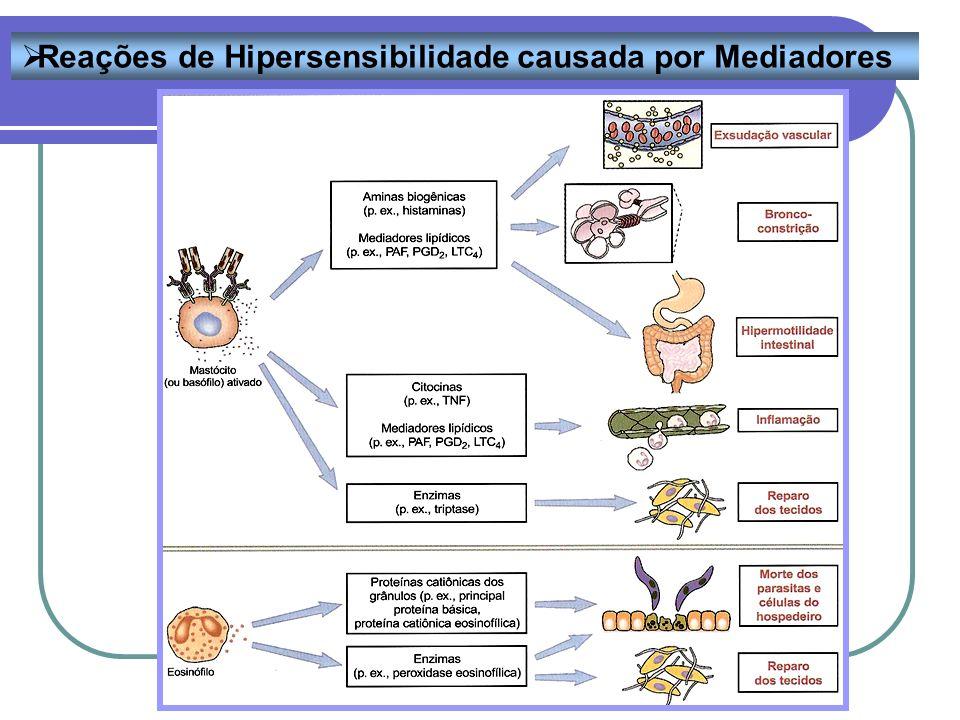 Reações de Hipersensibilidade causada por Mediadores