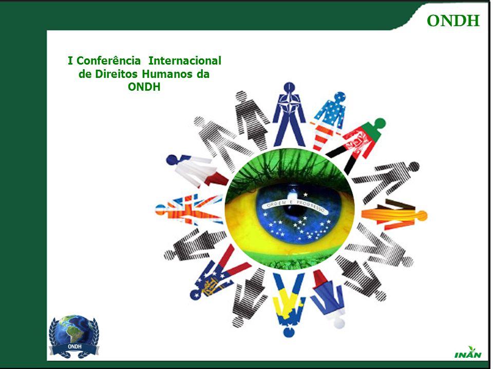 I Conferência Internacional de Direitos Humanos da ONDH ONDH