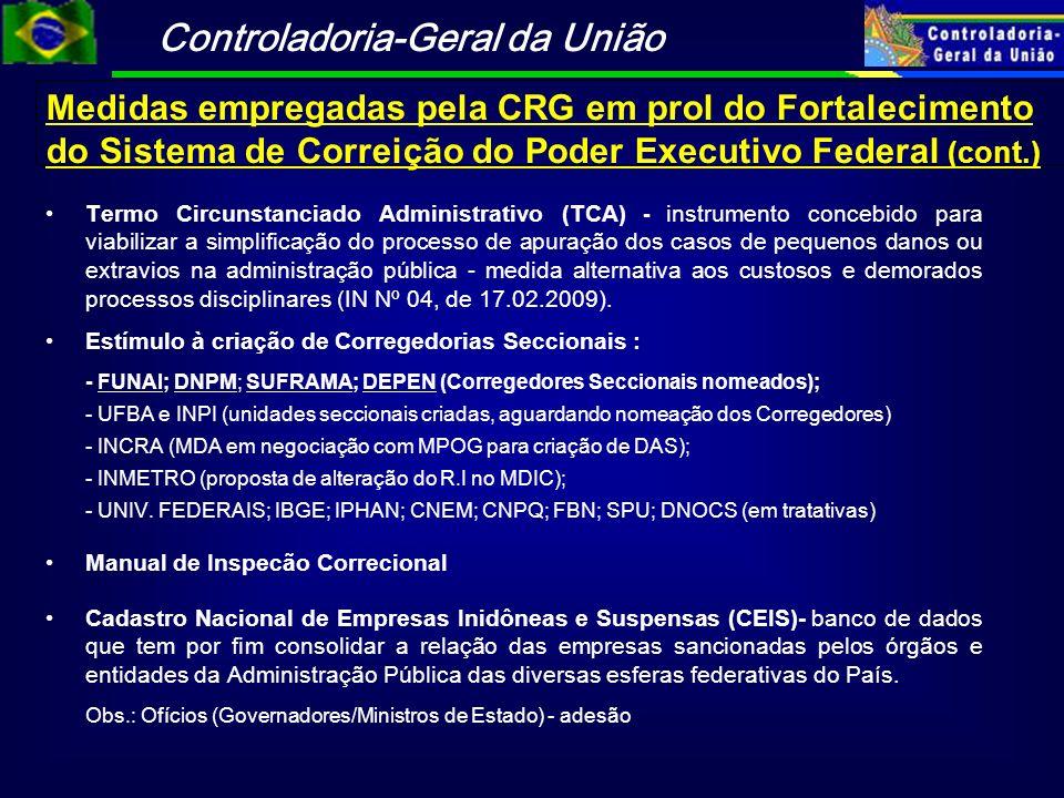 Controladoria-Geral da União Termo Circunstanciado Administrativo (TCA) - instrumento concebido para viabilizar a simplificação do processo de apuraçã