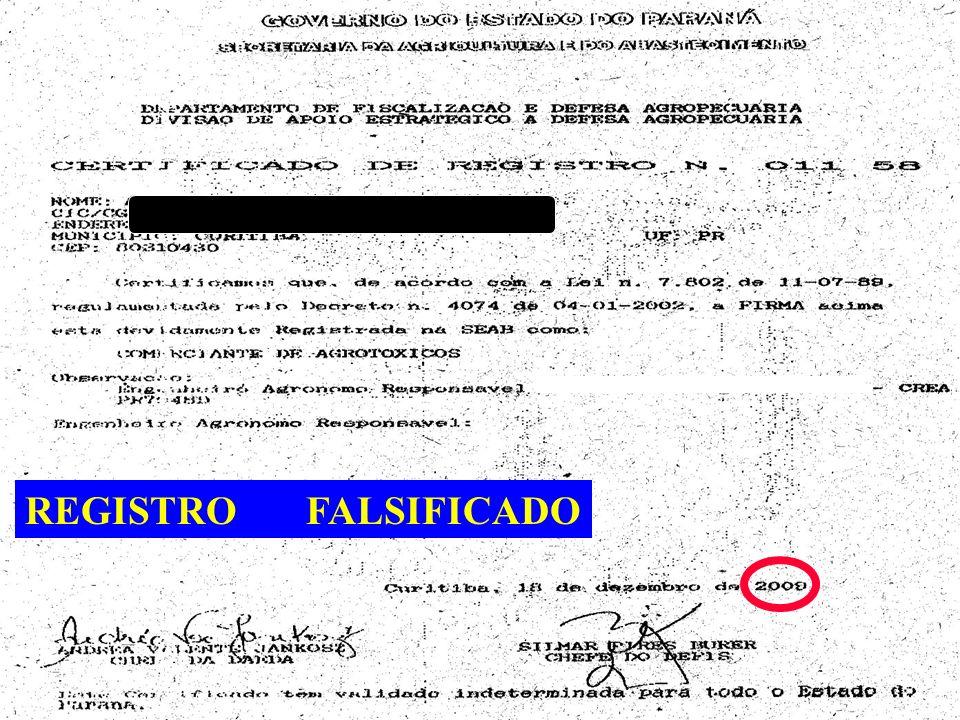 REGISTRO FALSIFICADO