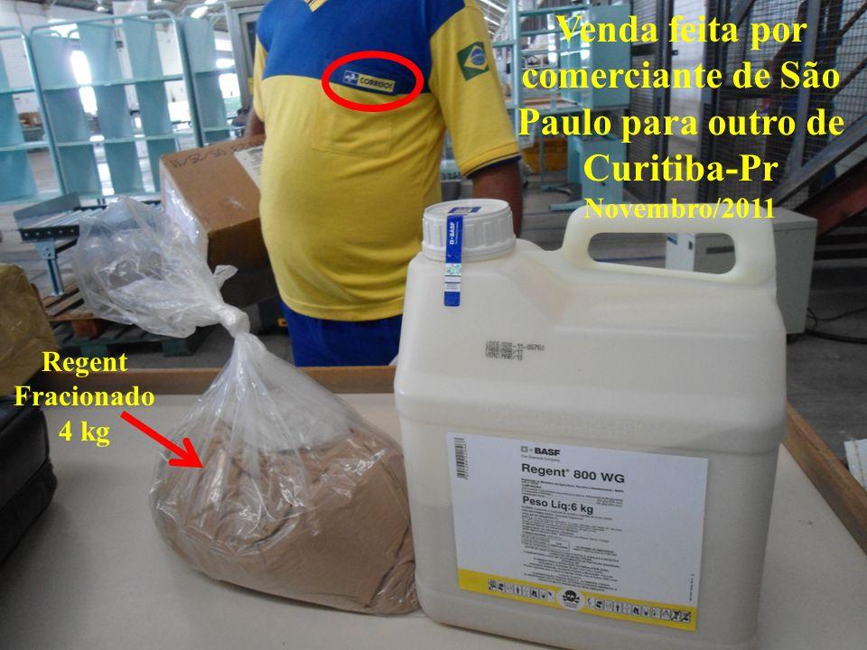 Venda feita por comerciante de São Paulo para outro de Curitiba-Pr Novembro/2011 Regent Fracionado 4 kg