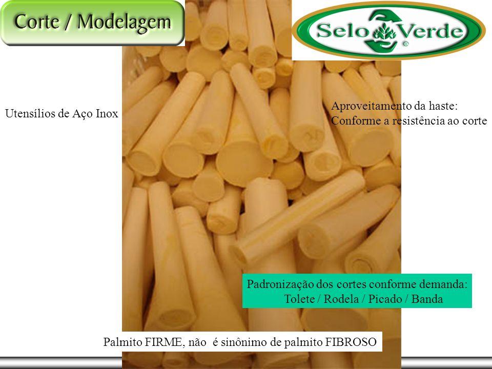 Utensílios de Aço Inox Aproveitamento da haste: Conforme a resistência ao corte Padronização dos cortes conforme demanda: Tolete / Rodela / Picado / B