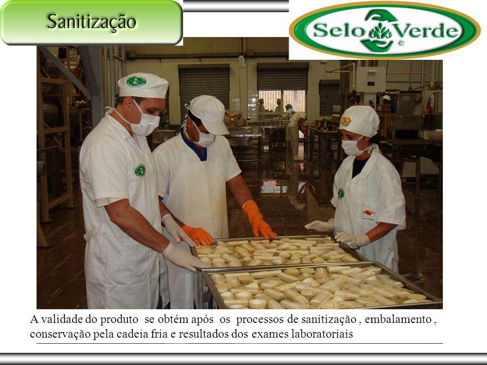 A validade do produto se obtém após os processos de sanitização, embalamento, conservação pela cadeia fria e resultados dos exames laboratoriais