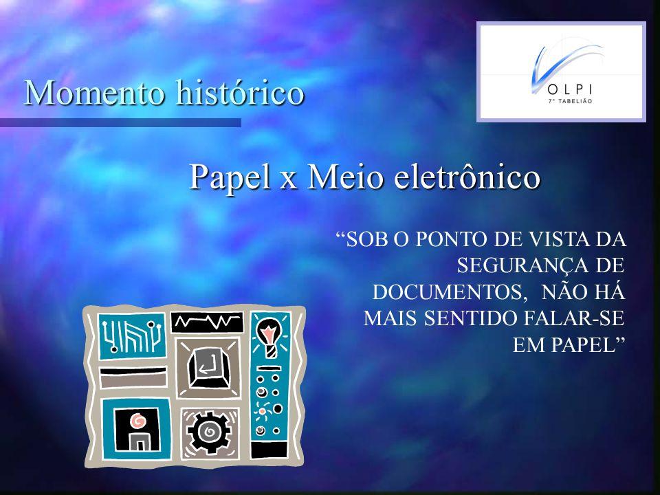 Documentos eletrônicos DOCUMENTOS EM PAPEL X DIGITAL Conservar: World Trade Center, desastres naturais, etc Destruir: ITÁLIA- INDÚSTRIA DE LATICÍNIOS