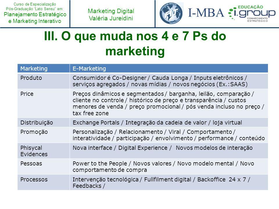 Curso de Especialização Pós-Graduação Lato Sensu em: Planejamento Estratégico e Marketing Interativo I-MBA Marketing Digital Valéria Jureidini Exercício 1 Quais empresas brasileiras, na sua opinião, possuem os quesitos de poder citados anteriormente.