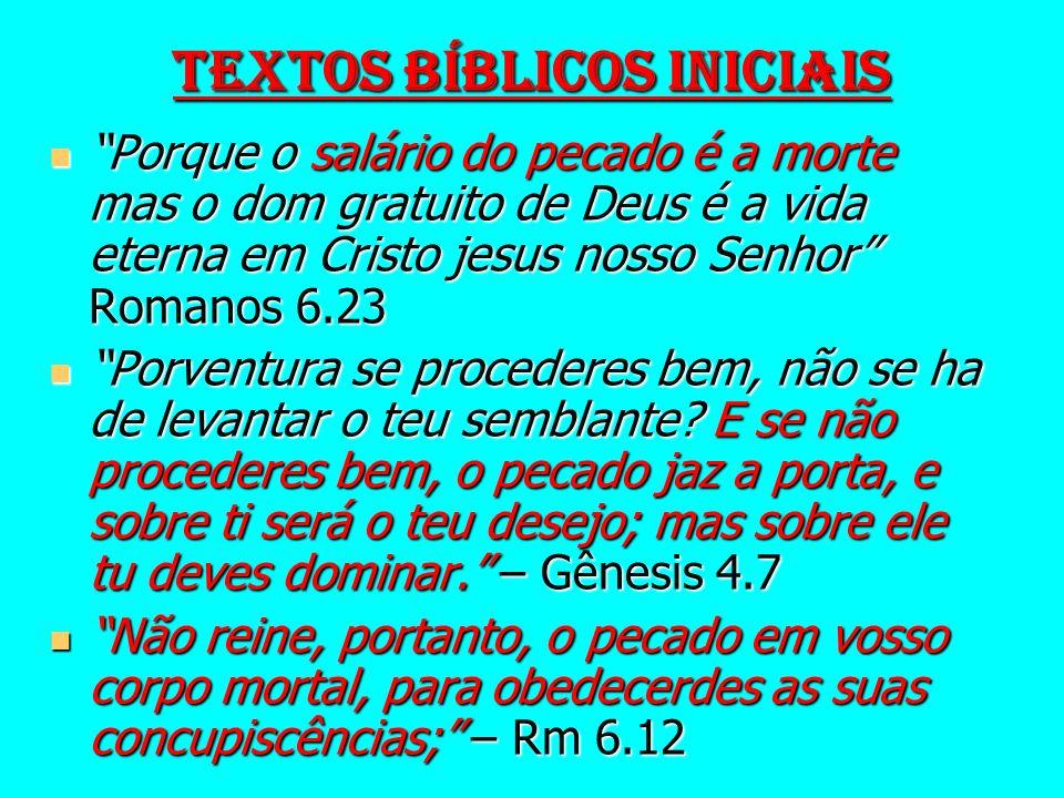 INTRODUÇÃO Uma das doutrinas bíblicas é a do Pecado.