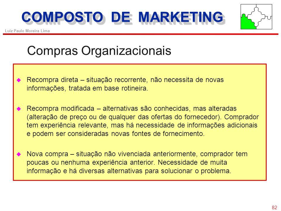 81 Luiz Paulo Moreira Lima ProdutoPreço Promoção Praça Desenvolvimento de produto Classificação Marca Produto x Serviço Preço único Valor x preço Esta