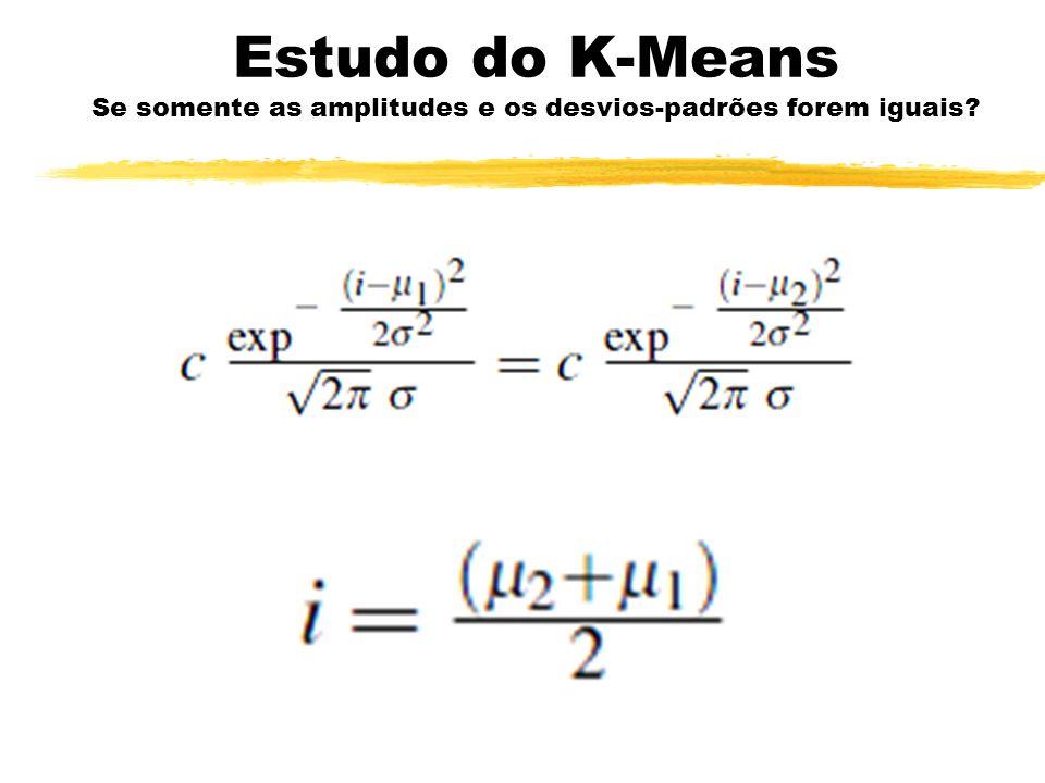 Estudo do K-Means Se somente as amplitudes e os desvios-padrões forem iguais?