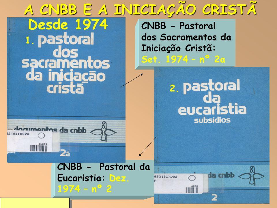 2 CNBB - Pastoral dos Sacramentos da Iniciação Cristã: Set. 1974 – nº 2a CNBB - Pastoral da Eucaristia: Dez. 1974 – nº 2 Pe. Lima, sdb 2009 A CNBB E A