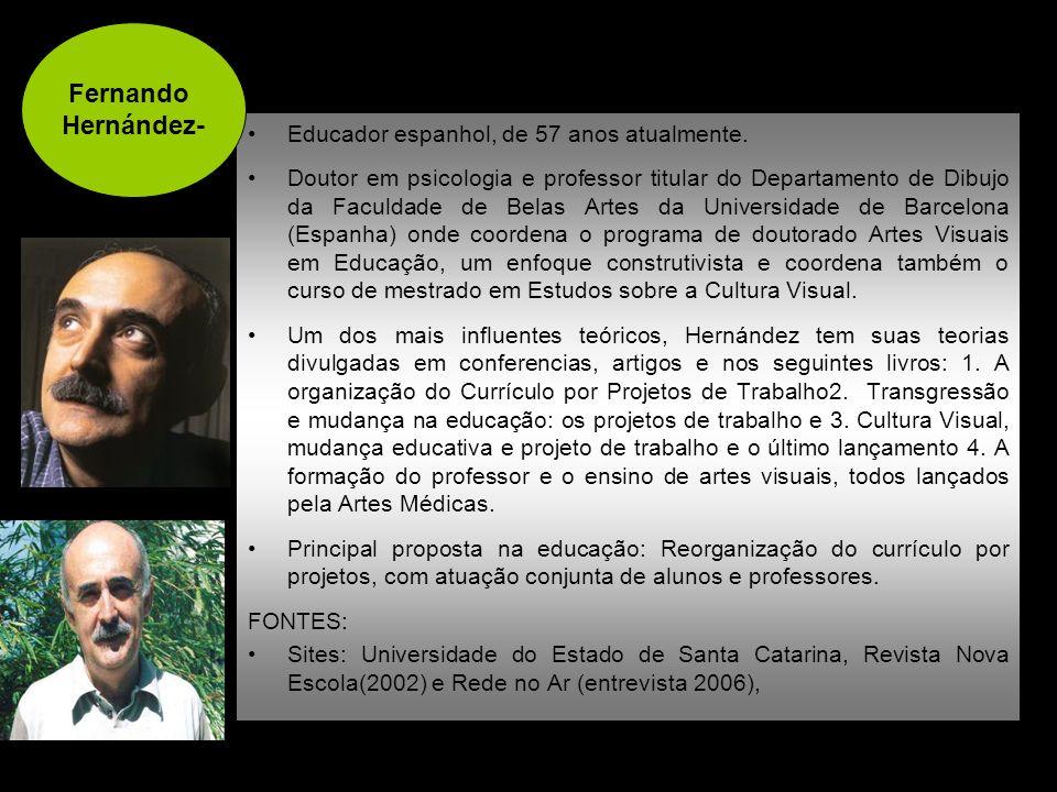 Educador espanhol, de 57 anos atualmente. Doutor em psicologia e professor titular do Departamento de Dibujo da Faculdade de Belas Artes da Universida