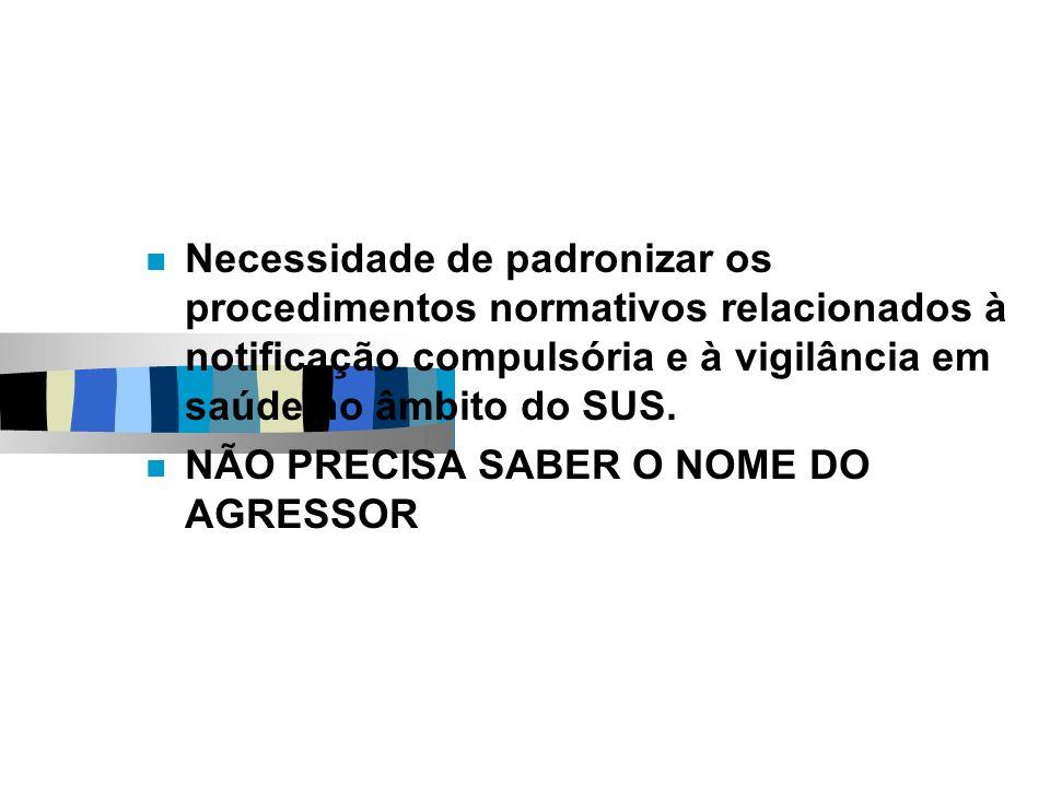 NOTIFICAÇÃO: possui CARÁTER SIGILOSO: art.3º da Lei 10.778/2003.