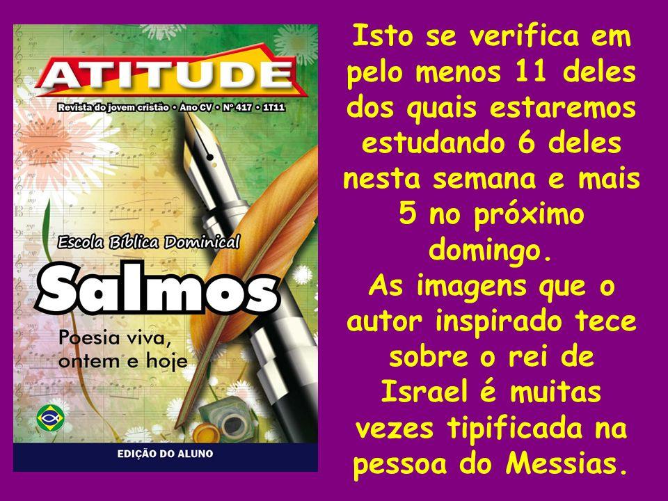 A autoria dos salmos 20, 23 e 24 é atribuída a Davi, enquanto os demais seriam atribuídos à equipe litúrgica no templo.