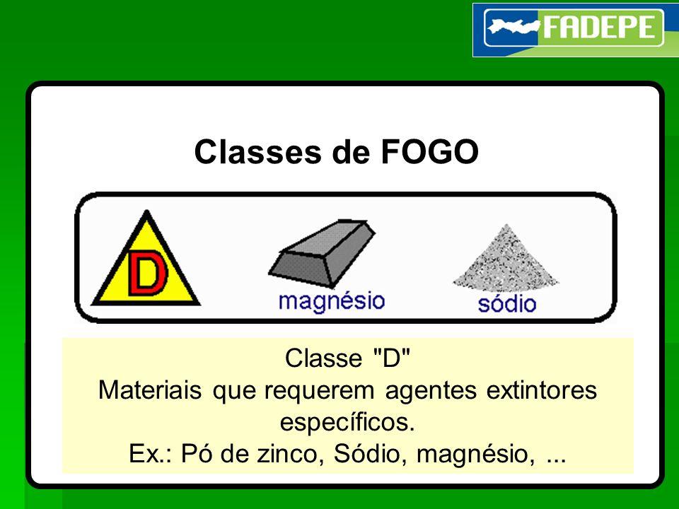 25 Classes de FOGO Classe