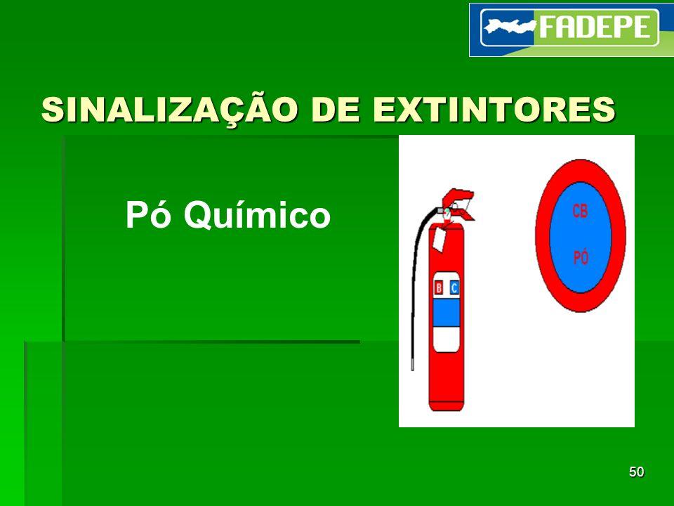 50 SINALIZAÇÃO DE EXTINTORES Pó Químico
