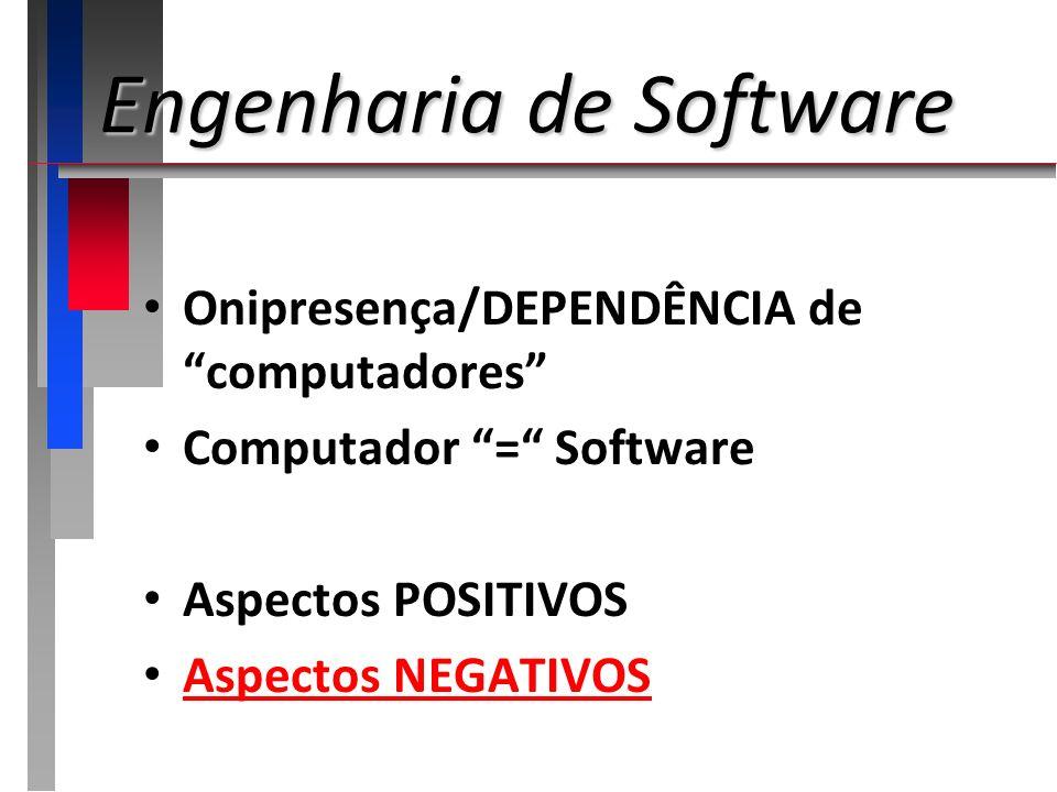 Engenharia de Software Engenharia é a aplicação sistemática de conhecimentos científicos na criação e construção de soluções com um bom custo-benefício para a resolução de problemas práticos da sociedade...