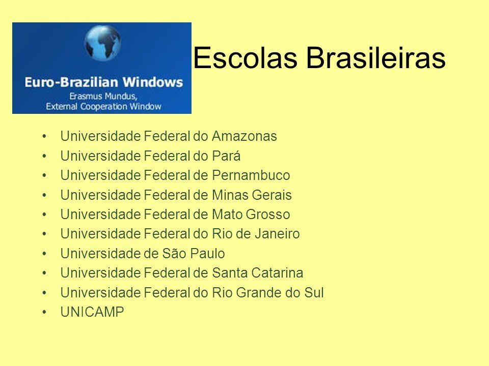 Escolas Brasileiras Universidade Federal do Amazonas Universidade Federal do Pará Universidade Federal de Pernambuco Universidade Federal de Minas Ger