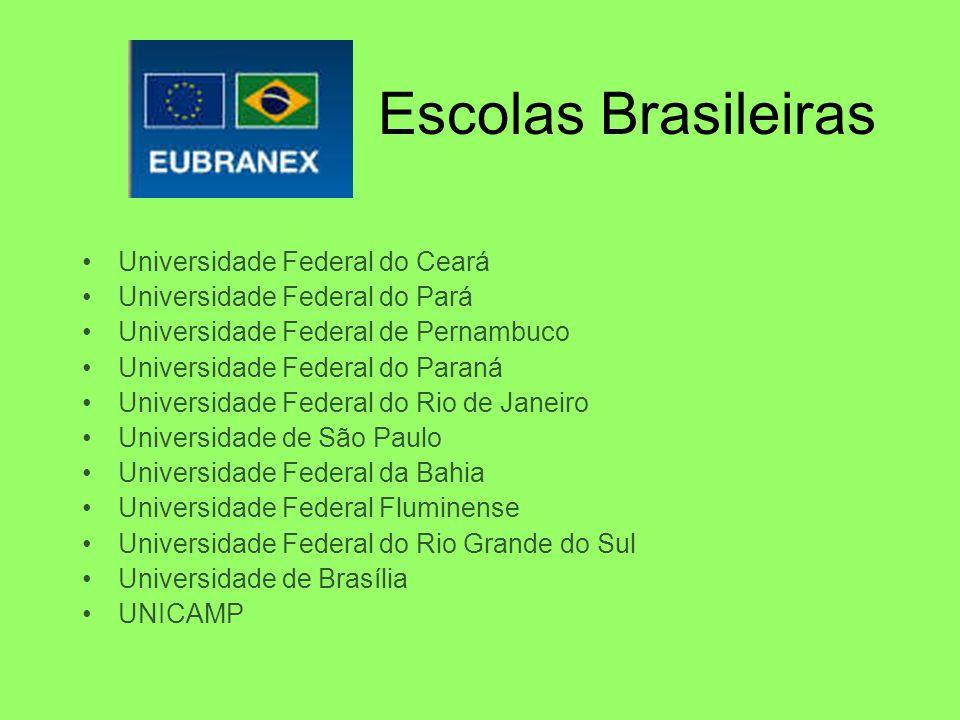 Escolas Brasileiras Universidade Federal do Ceará Universidade Federal do Pará Universidade Federal de Pernambuco Universidade Federal do Paraná Unive