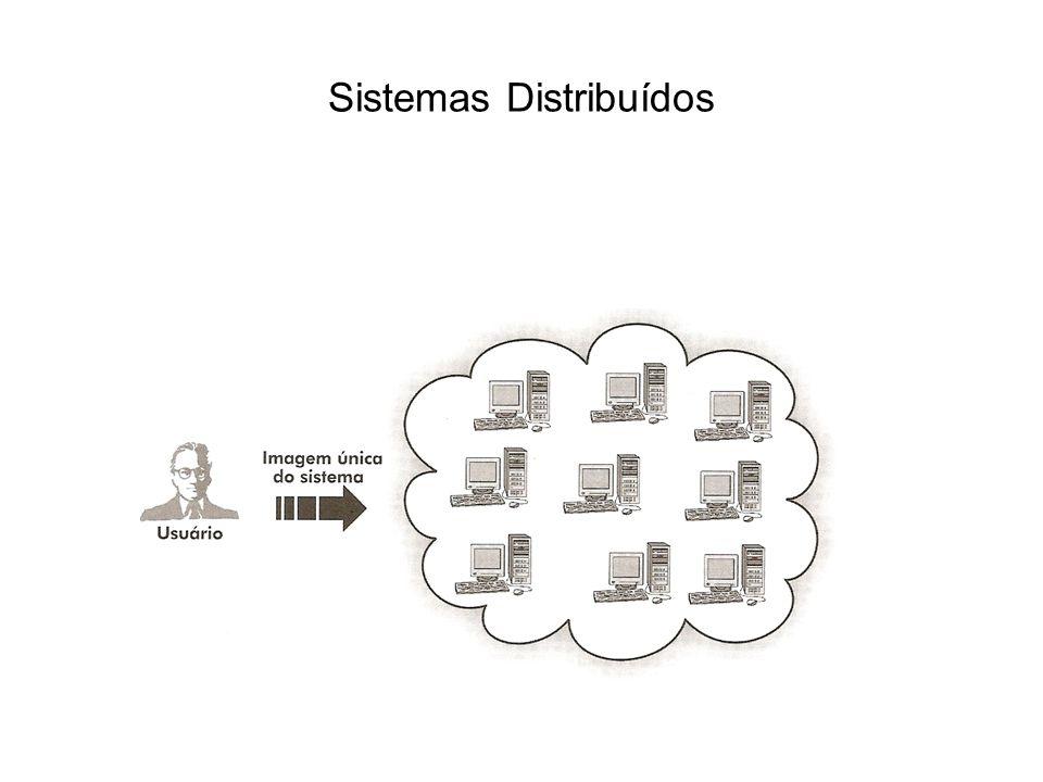 Os componentes de um sistema distribuído podem estar conectados em um ambiente de uma rede local ou através de uma rede distribuída.