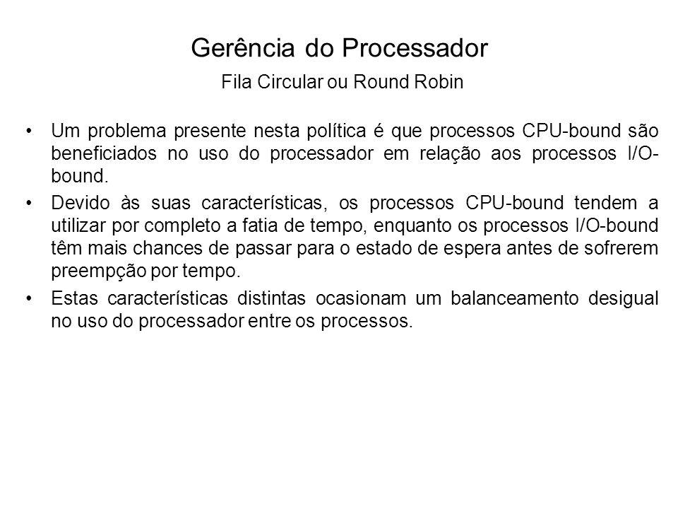 Um refinamento do escalonamento circular, que busca reduzir este problema, é conhecido como escalonamento circular virtual, ilustrado seguir.