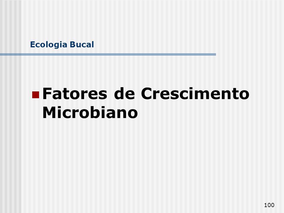 100 Ecologia Bucal Fatores de Crescimento Microbiano
