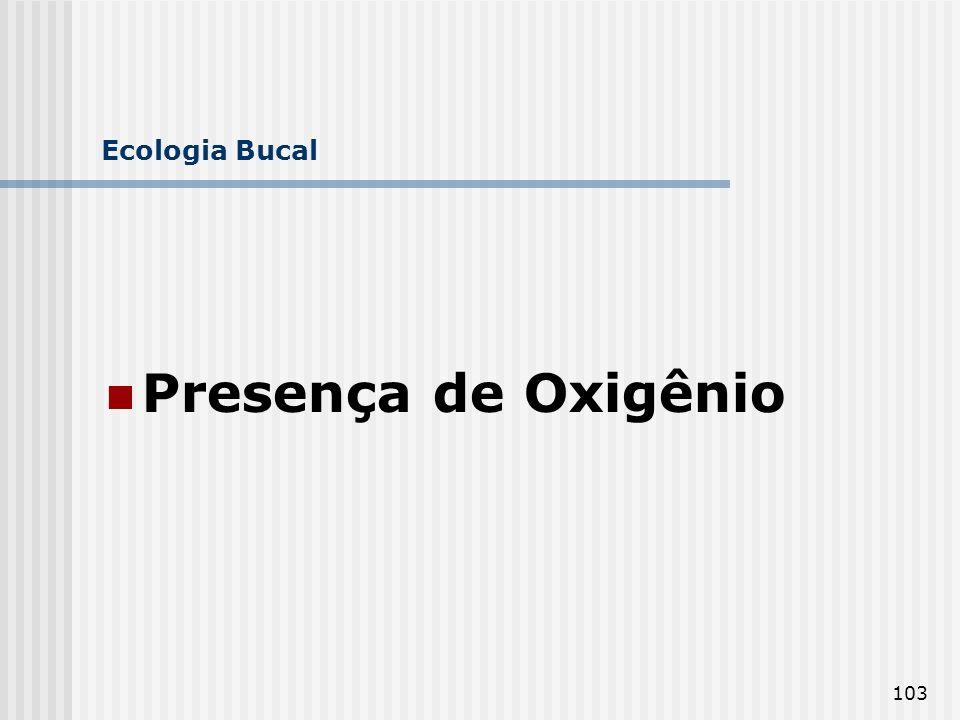 103 Ecologia Bucal Presença de Oxigênio