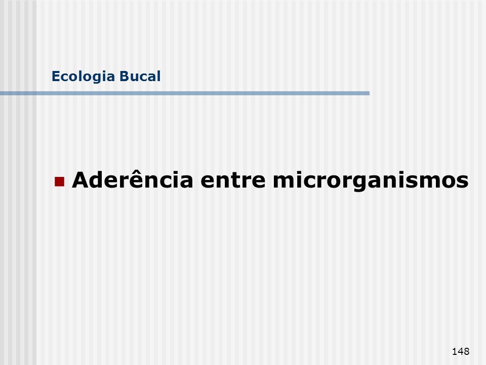 148 Ecologia Bucal Aderência entre microrganismos