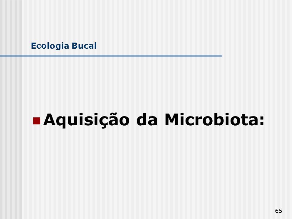 65 Ecologia Bucal Aquisição da Microbiota: