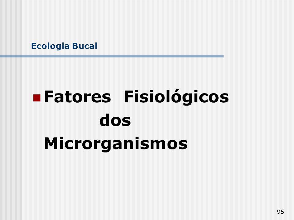 95 Ecologia Bucal Fatores Fisiológicos dos Microrganismos