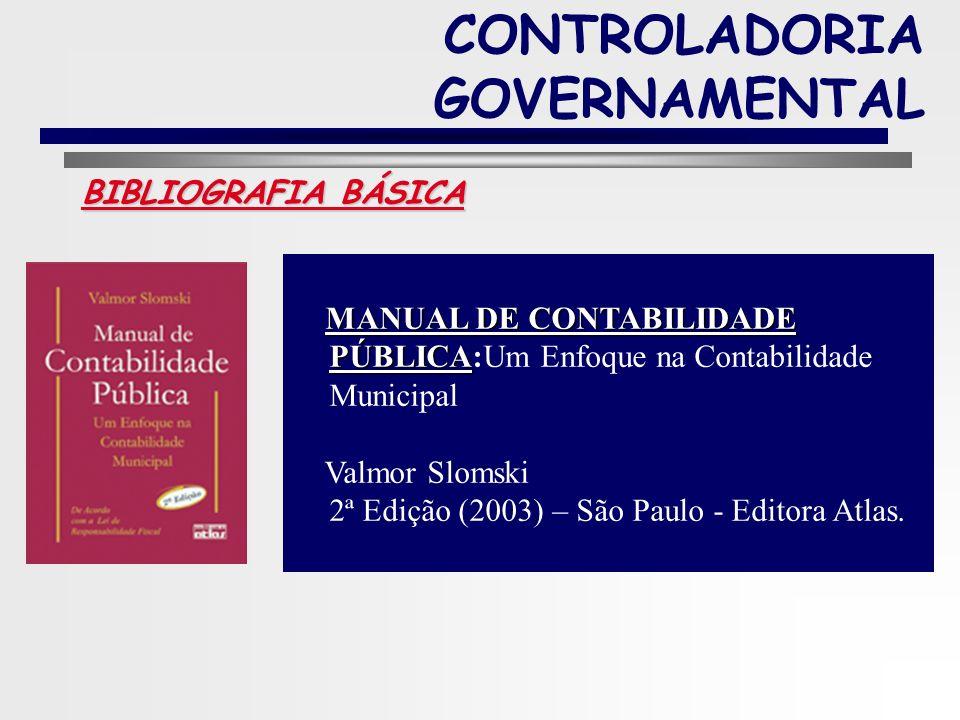 11 BIBLIOGRAFIA BÁSICA CONTROLADORIA GOVERNAMENTAL GESTÃO PÚBLICA Edson Ronaldo Nascimento (2006) – Editora Saraiva