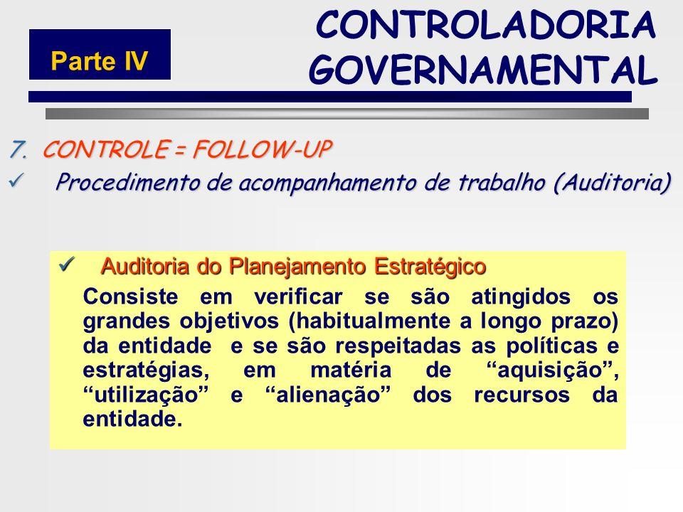 142 7.CONTROLE = FOLLOW-UP Procedimento de acompanhamento de trabalho (Auditoria) Procedimento de acompanhamento de trabalho (Auditoria) Auditoria Adm