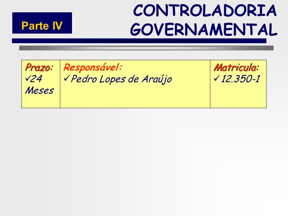 151 CONTROLADORIA GOVERNAMENTAL Parte IV Seq. 1 Prioridade: 1 (Alta) Título da Ação/Termo de referência: 1.Contratar um psicólogo; 2.Criar/desenvolver