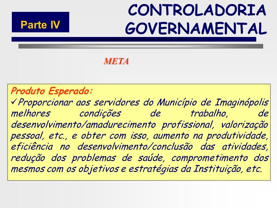 152 CONTROLADORIA GOVERNAMENTAL Parte IV Prazo: 24 Meses Responsável: Pedro Lopes de AraújoMatricula: 12.350-1