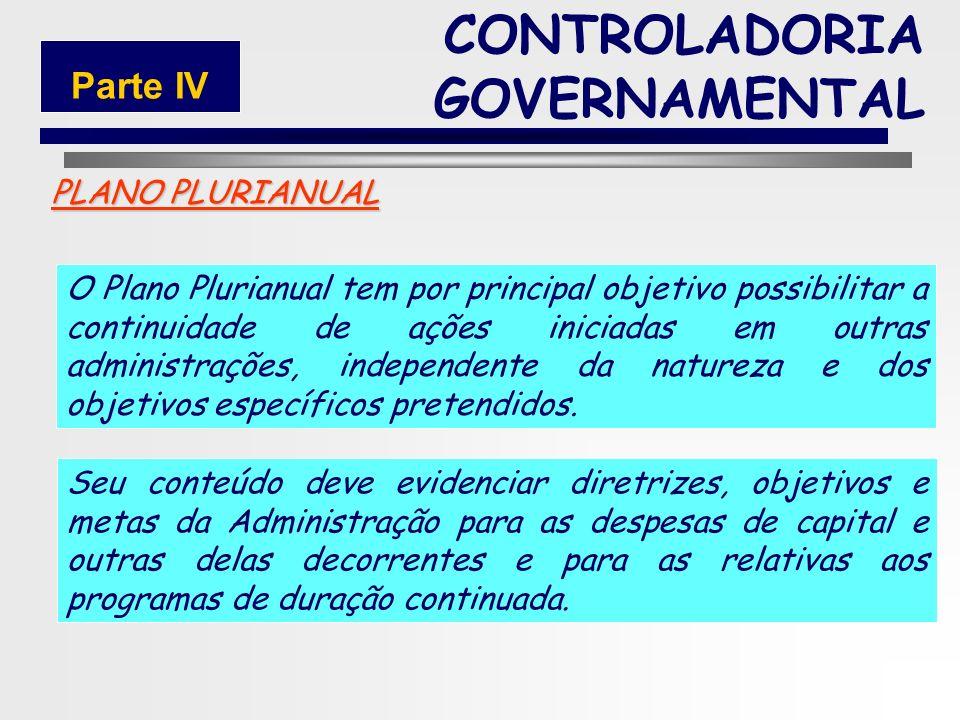 161 PLANO PLURIANUAL O Plano Plurianual é um plano de médio prazo, através do qual procura-se ordenar as ações do governo que levem ao atingimentos do